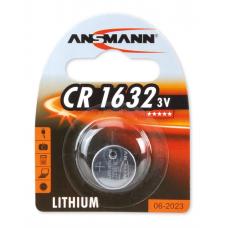 Batteri Knappcell Lithium CR1632 3V Ansmann