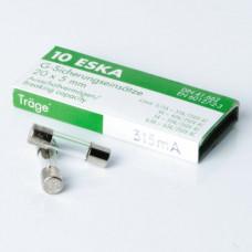 Glassäkring Trög 5x20mm 0,315A 10-pack Nordic Quality Power 143329