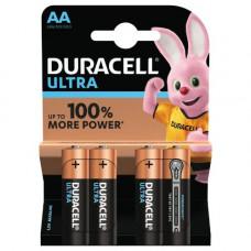 Batteri Alkaliskt AA (LR6) 1,5V Duracell Ultra 4-pack