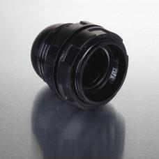 Lamphållare E27 Gängad med Skärmring Svart Nordic Quality Power 322821