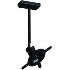 B-Tech Fixed Drop Flat Screen Ceiling Mount With Tilt & Swivel Black BT7581