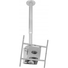 B-Tech Adjustable Drop Universal Flat Screen Ceiling Mount With Tilt Silver BT8426