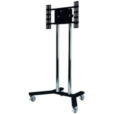 B-Tech Flat Screen Display Trolley / Stand Black Chrome BT8504