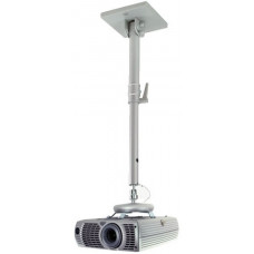 B-Tech Projector Ceiling Mount With Adjustable Drop Silver BT882