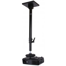 B-Tech Projector Ceiling Mount With Long Adjustable Drop Black BT883