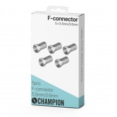 Champion F-Kontakt 5.5mm/3.6mm 5-pack