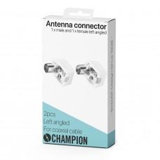Champion Antennkontakt Vinklad Hane/Hona