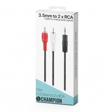 Champion 3.5mm Hane - 2xRCA Hane 1.5m