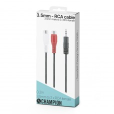 Champion 2xRCA Hona - 3.5mm Hane 0.2m