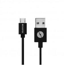Ladd & Synkkabel Champion Micro-USB Svart 1m