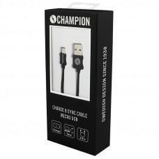 Champion Micro-USB Svart 3m