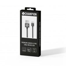Champion Premium Micro-USB Black 1m