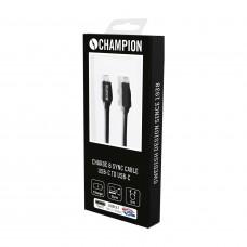 Ladd & Synkkabel Champion Premium USB-C Black 2m