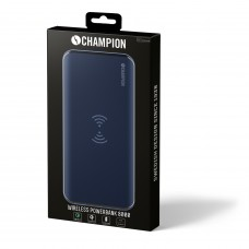 Powerbank Champion QI 8000mAh 3A Blå
