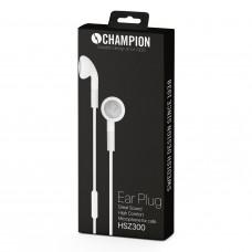 Hörlurar Champion HSZ300 Headset Ear Plugs Vit