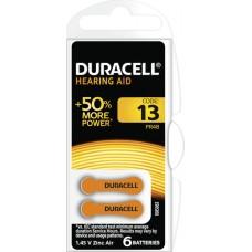 Hörapparatsbatteri 13 (PR48) 1,45V Duracell 6-pack