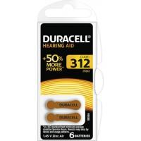 Hörapparatsbatteri 312 (PR41) 1,45V Duracell 6-pack