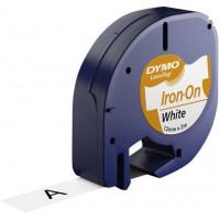 Märkband Dymo LetraTag Iron-On White 12mm 2m S0718850