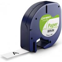 Märkband Dymo LetraTag Paper White 12mm 4m S0721520