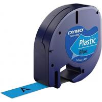 Märkband Dymo LetraTag Plastic Blue 12mm 4m S0721650