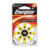 Hörapparatsbatteri Zinc Air 10 (PR70) 1,4V Energizer 8-pack