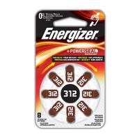 Hörapparatsbatteri Zinc Air 312 (PR41) 1,4V Energizer 8-pack