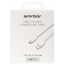 USB-Kabel USB-A till USB-C Essentials 387920 1,5m White