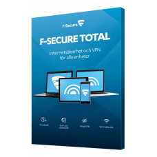 Antivirusprogram F-Secure Total (Safe + Freedom VPN) 1 år 15 enheter
