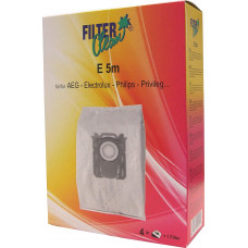 Dammsugarpåsar Filterclean E 5m FL0007-K 4-pack (alternativ till Electrolux E201S)