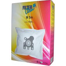Dammsugarpåsar Filterclean M 5m FL0014-K 4-pack (alternativ till Miele FJM)