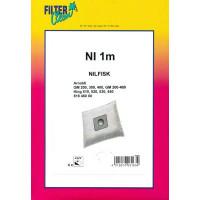 Dammsugarpåsar Filterclean NI 1m FL0251-K 4-pack