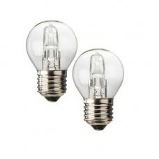 Halogenlampa 240V E27 Klot 20W (26W) GE 2-pack
