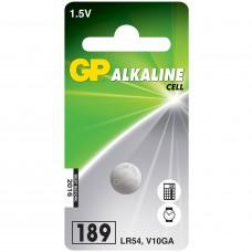 Batteri Knappcell Alkaline LR54 (LR1131) 1,5V GP