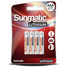 GP Sunmatic Lithium AAA 1,5V (FR03) 4-pack