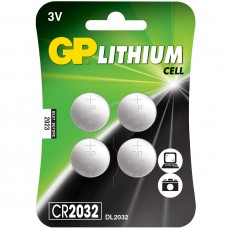 Batteri Knappcell Lithium CR2032 3V GP 4-pack