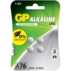 Batteri Knappcell Alkaline LR44 (LR1154) 1,5V GP 4-pack