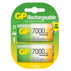 Laddningsbara batterier D (HR20) 1,2V 7000mAh GP 2-pack