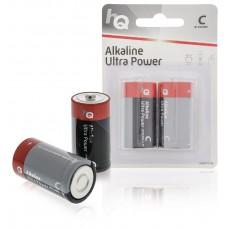 Batteri Alkaliskt C (LR14) 1,5V HQ 2-pack