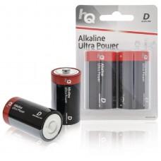 Batteri Alkaliskt D (LR20) 1,5V HQ 2-pack