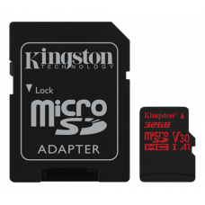 Minneskort microSDHC Kingston Canvas React 100R UHS-I CL10 U3 A1 V30 4K 32GB