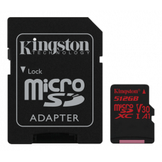 Minneskort microSDXC Kingston Canvas React 100R UHS-I CL10 U3 A1 V30 4K 512GB