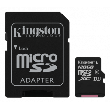 Minneskort microSDXC Kingston Canvas Select 80R UHS-I CL10 128GB