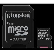 Minneskort microSDXC Kingston Canvas Select 80R UHS-I CL10 256GB