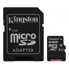 Minneskort microSDXC Kingston Canvas Select 80R UHS-I CL10 64GB