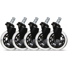 L33T Gaming Casters Universal 5pcs Black