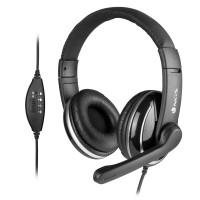 Headset On-Ear NGS Vox 800 USB Black