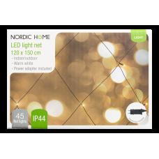 Ljusnät Nätdriven Inomhus/Utomhus 120x150cm LED Varmvit Nordic Home LGT-124