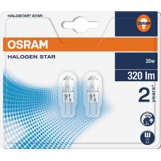 Halogenlampa 12V G4 20W Osram Halostar 64425 4008321201836 2-pack