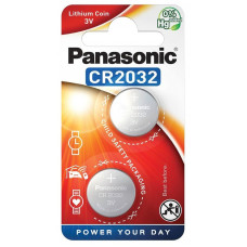 Batteri Litium CR2032 3V Panasonic 2-pack