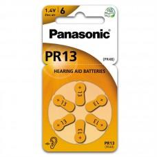 Hörapparatsbatteri Zinc Air 13 (PR48) 1,4V Panasonic 6-pack